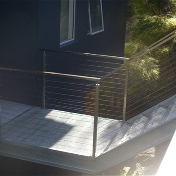 Structural steel bridge and cable balustrade