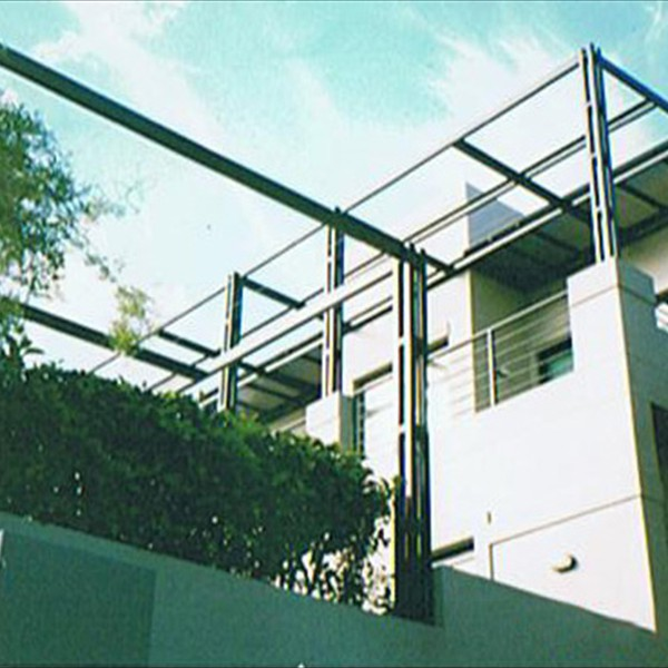 Structural steel patio